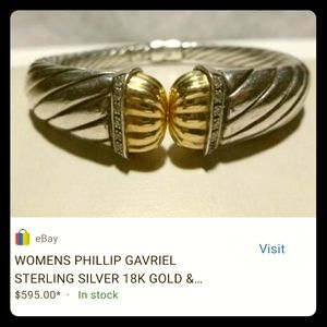 Bracelet Women's Phillips Gravel 18k Gold 926 with